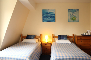 twin room with ensuite at Whitehouse Guest Rooms, bed and breakfast Bristol