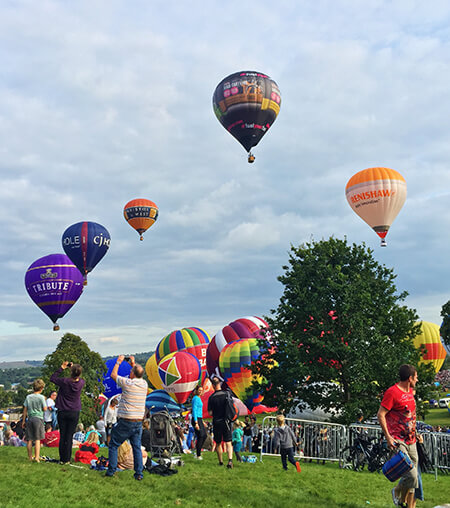 Book our B&B to visit The Balloon Festival Bristol
